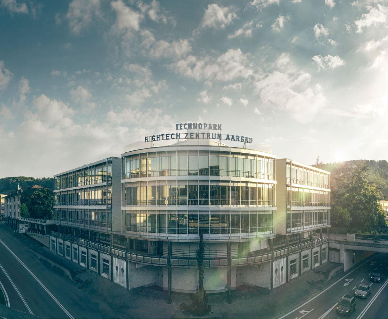 Digitalisierung im Gewerbe fand im Hightech Zentrum Aargau AG statt, Sicht von Aussen des Gebäudes