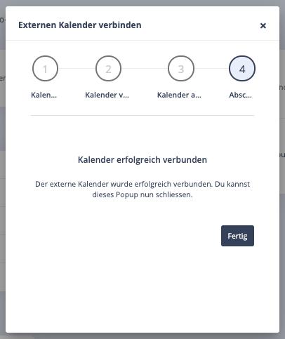 Abschluss externen iCloud-Kalender verbinden